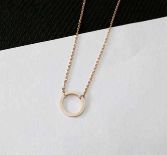 Lovelymusthaves Cirkel minimalistische ketting