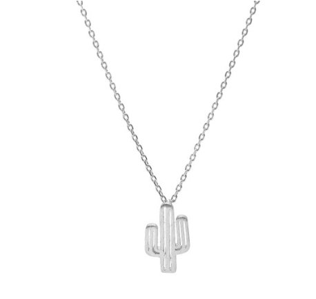Lovelymusthaves Cactus necklace hip silver/gold