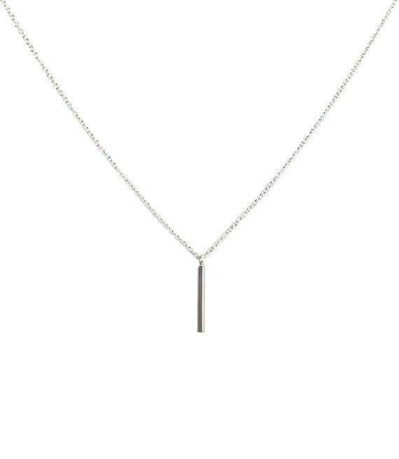 Lovelymusthaves Bar minimalistische staaf ketting zilver/goud