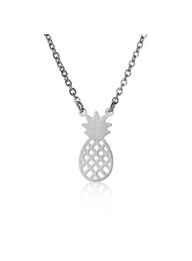 Lovelymusthaves Pineapple necklace silver/gold/rosé