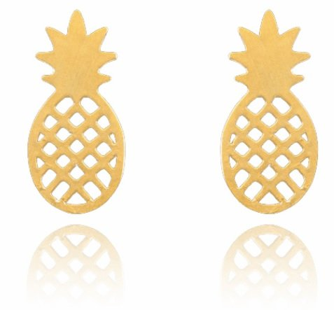 Lovelymusthaves Ananas pineapple trendy oorbellen
