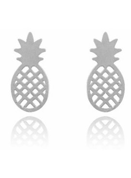 Lovelymusthaves Pineapple trendy earstuds silver/gold/rosé
