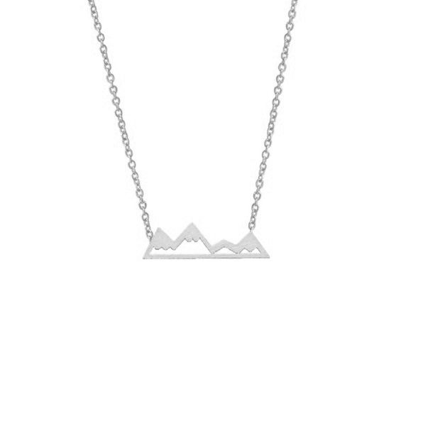 Lovelymusthaves Mountain necklace silver/gold/rosé