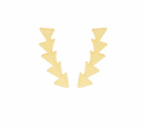 Lovelymusthaves Minimalistische trendy geometrische driehoek oorbellen