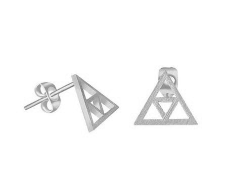 Joboly Minimalist open triangle triangle earrings