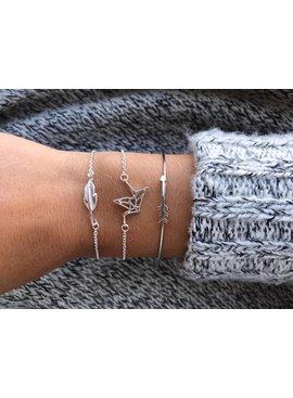 Lovelymusthaves Leaf plant bracelet silver/gold/rosé bold