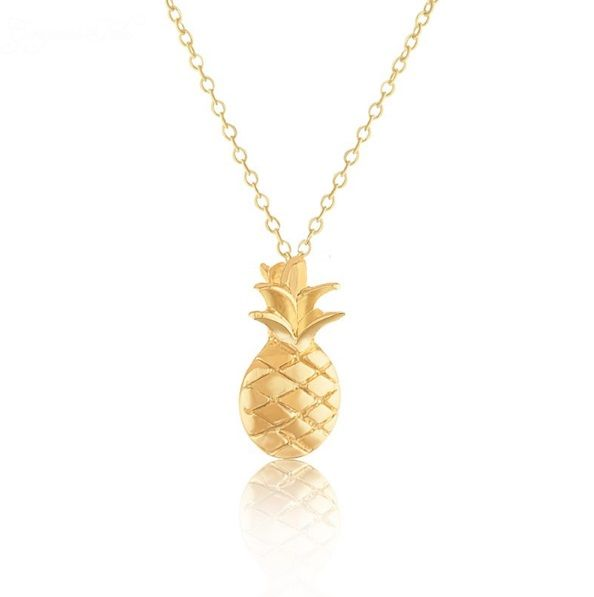 Lovelymusthaves Pineapple necklace hip silver/gold