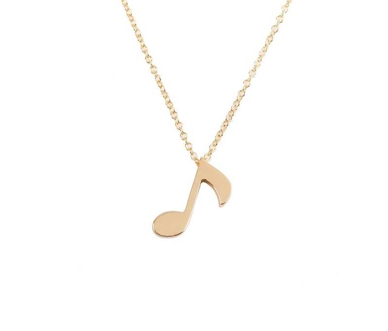 Musical note music guitar sound music necklace