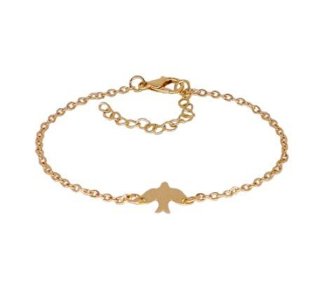 Lovelymusthaves Minimalistische subtiele vogel bird dier armband zilver/goud