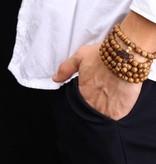 Lovelymusthaves Buddha Armband Sandelhout Roodbruin 6/8mm kraal