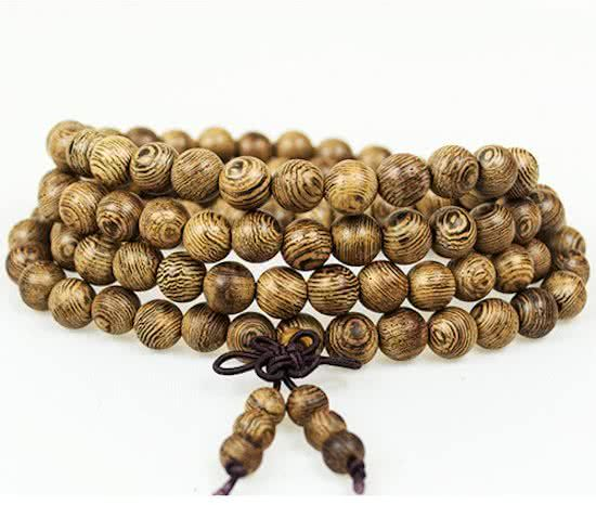 Joboly Buddha Bracelet Sandalwood Red brown 6 / 8mm bead