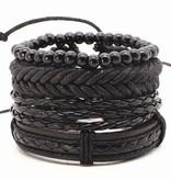 Joboly Robustes Multilayer-Armband für Herren / Herren, geflochtene Perlen