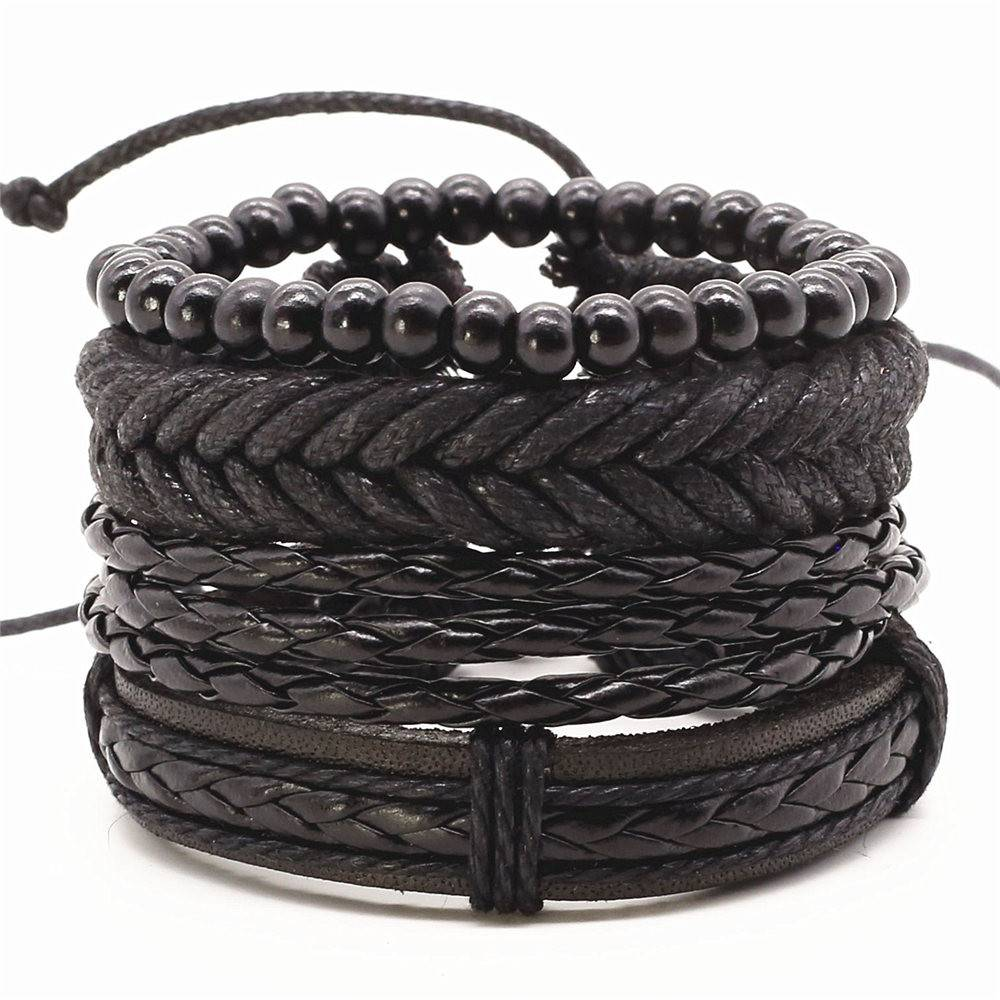 Joboly Tough multilayer men / men bracelet set braided beads