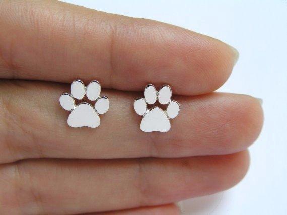 Joboly Dog foot paw print pet dog earrings