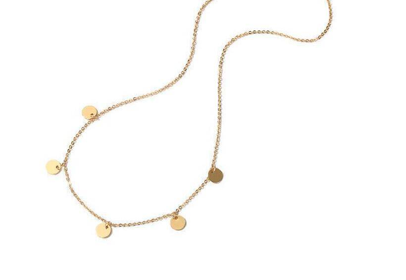 Lovelymusthaves Lovelymusthaves - Ketting dichte platte rondjes cirkel zilver/goud
