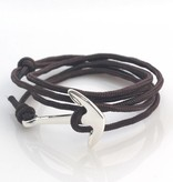 Joboly Robustes Herren- / Herren-Ankerarmband, einstellbar grau / braun / blau