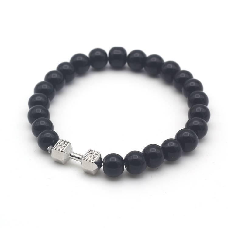 Lovelymusthaves Tough men / men dumbbell dumbbell training fitness beads bracelet