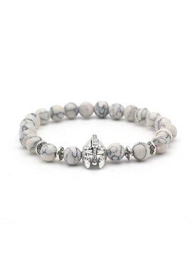 Tough men / men helmet shield knight Lovelymusthaves bracelet marble