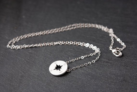 Lovelymusthaves Compass trendy arrow pointer nozw necklace