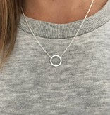 Cirkel minimalistische ketting