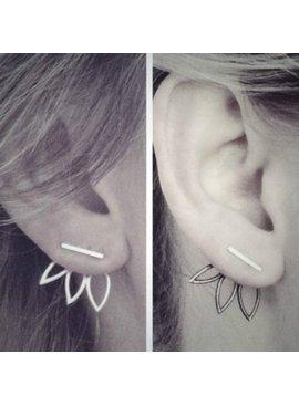 Lovelymusthaves Lotus flower earrings