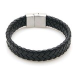 Lovelymusthaves Tough flat wide men's / men's bracelet braided with handy closure