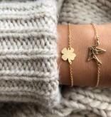 Lovelymusthaves Clover lucky charm bracelet silver/gold