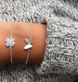 Joboly Klavertje vier plant bloem hippe armband