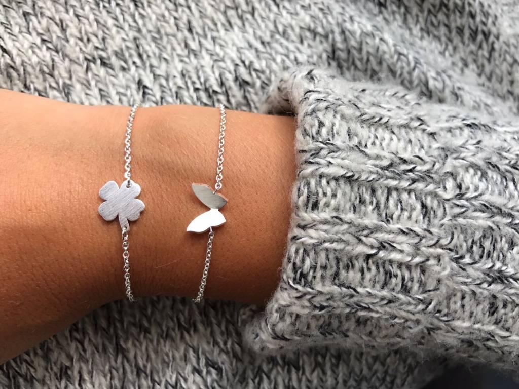 Joboly Four-leaf clover plant flower hip bracelet