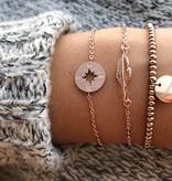 Joboly Kompass trendy Pfeil Armband