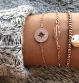 Lovelymusthaves Kompas trendy richtingwijzer armband