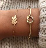Joboly Leaf flat leaf plant trendy bracelet