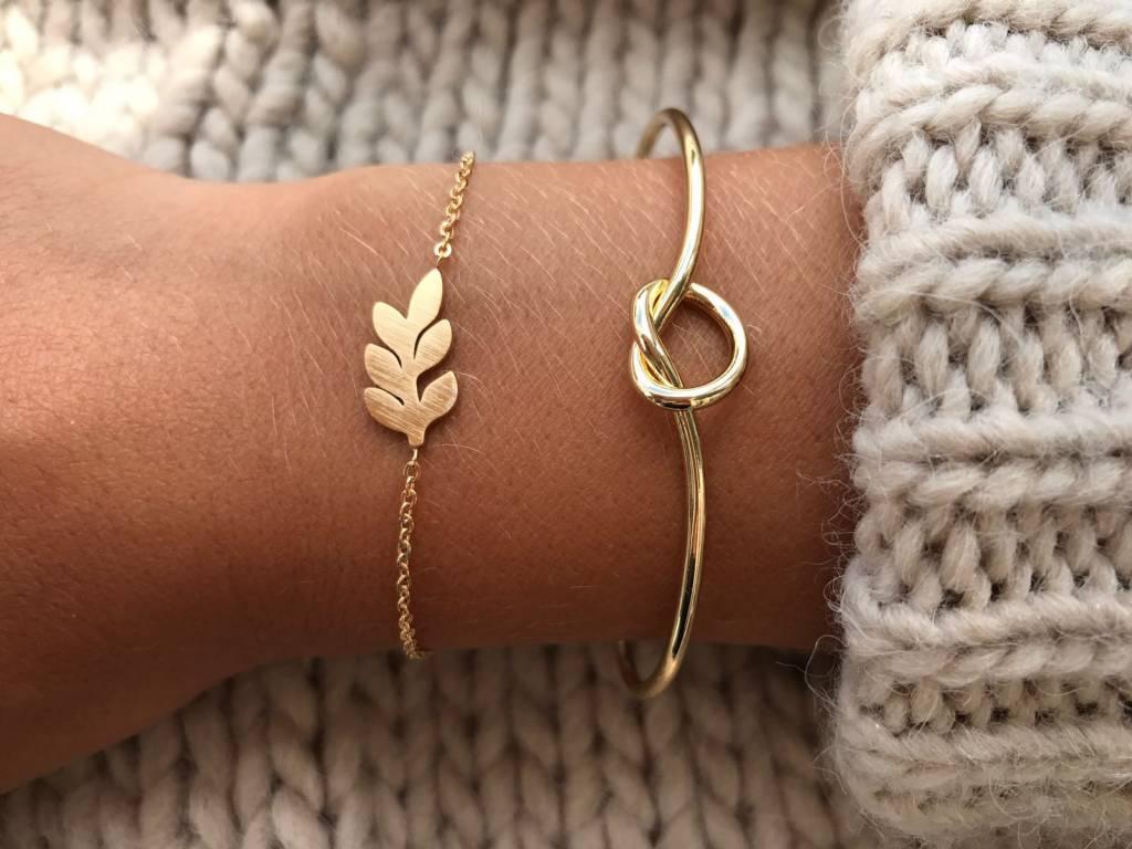 Joboly Leaf Flat Plant Trendy Bracelet