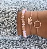 Leaf flat leaf plant trendy bracelet