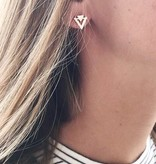 Lovelymusthaves Minimalist triangle earrings