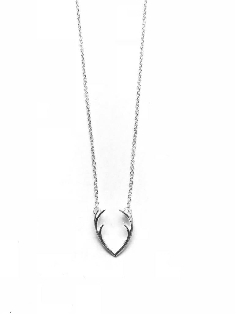 Lovelymusthaves Antler reindeer necklace silver/gold