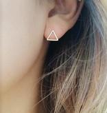 Joboly Triangle open minimalistic triangle earrings