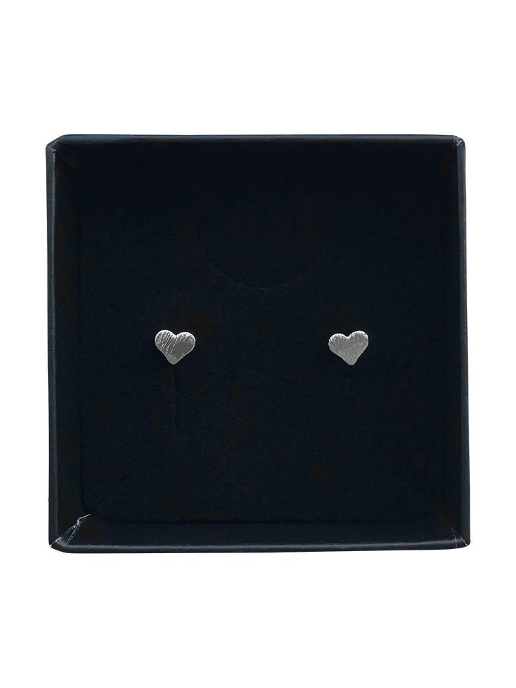 Lovelymusthaves Love heart earstuds silver/gold/rose