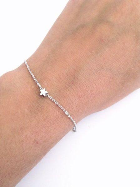 Lovelymusthaves Lovelymusthaves - Star hip minimalist bracelet silver/gold
