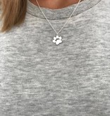 Lovelymusthaves Dog foot paw print pet dog necklace