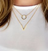 Lovelymusthaves Circle minimalist necklace silver/gold/rosé