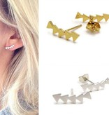 Lovelymusthaves Geometric triangle earstuds silver/gold/rosé