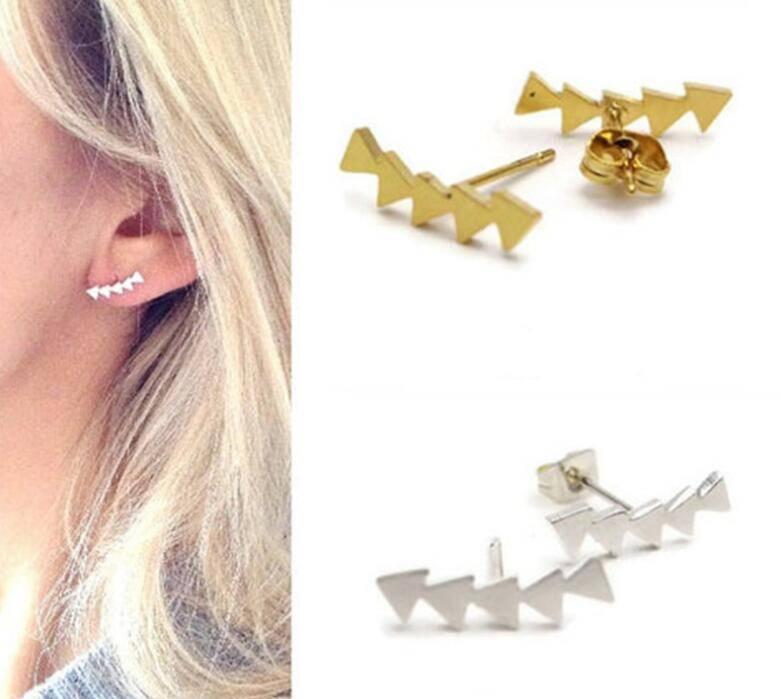 Lovelymusthaves Minimalist trendy geometric triangle earrings