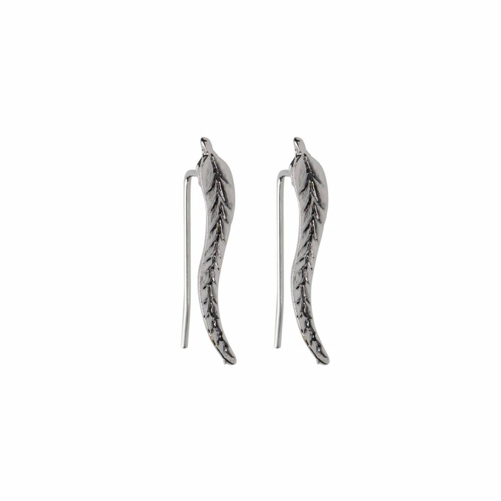 Joboly Trendy earrings with leaf feather leaf along your ear line
