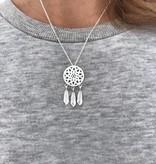 Dreamcatcher boho necklace silver/gold/rosé