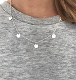 Lovelymusthaves Coin coin dense flat circles circle necklace