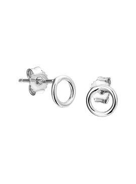 Joboly Joboly Sieraden Oorbellen Open Cirkel - Dames - oorknopjes 925 Zilver