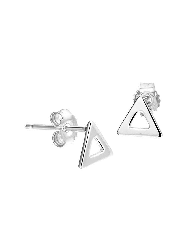 Joboly Joboly Sieraden Oorbellen Open Driehoek - Dames - oorknopjes 925 Zilver