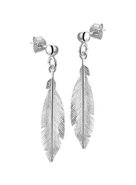 Joboly Joboly Jewelery Earrings Feather - Ladies - stud earrings 925 Silver