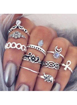 Lovelymusthaves Hip boho bohemian style ring set